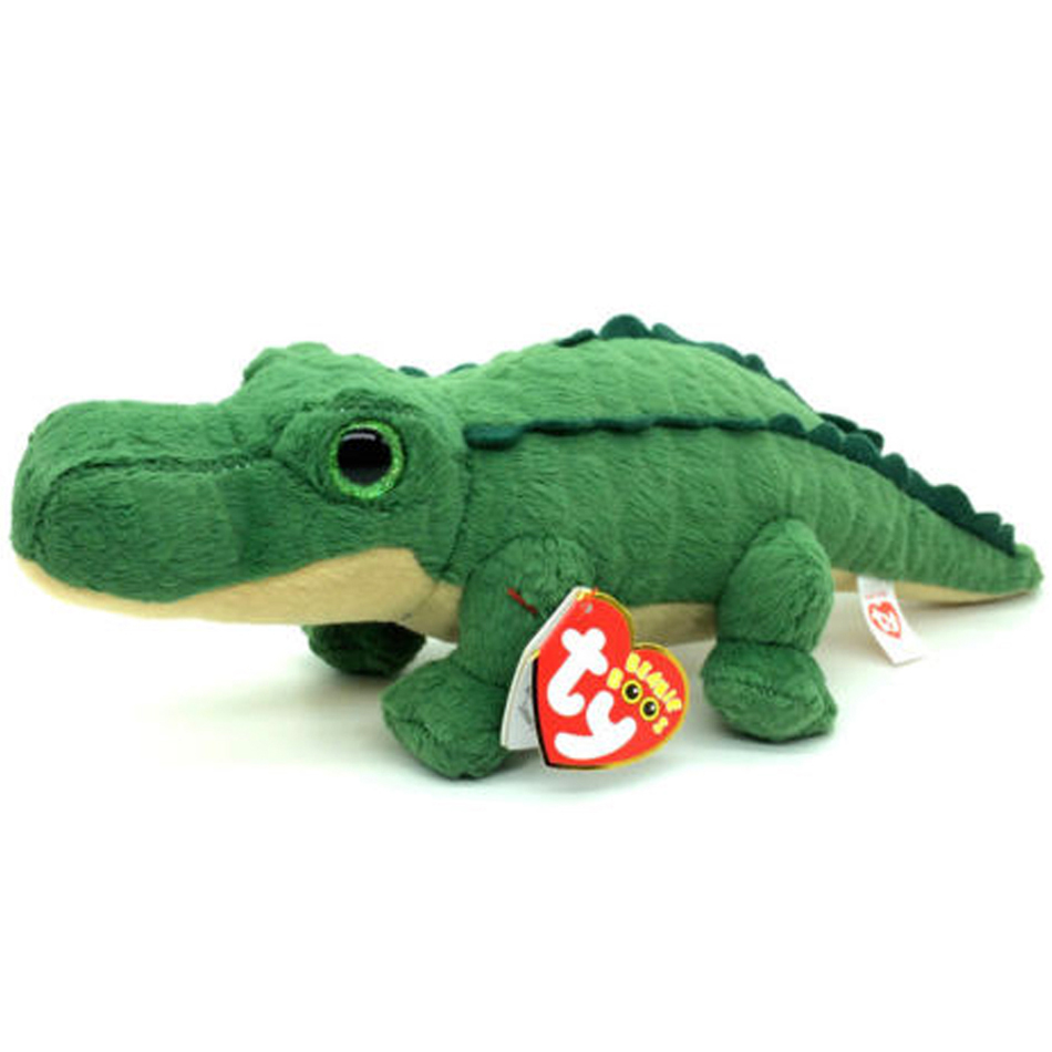 Pythter Ty Beanie Boos 7 18cm Spike the Green Alligator  Regular Cute Stuffed Animal Plush Doll Collectible soft Big Eyes Toys ty collection beanie boos kids plush toys big eyes slick brown fox lovely children gifts kawaii stuffed animals dolls cute toys