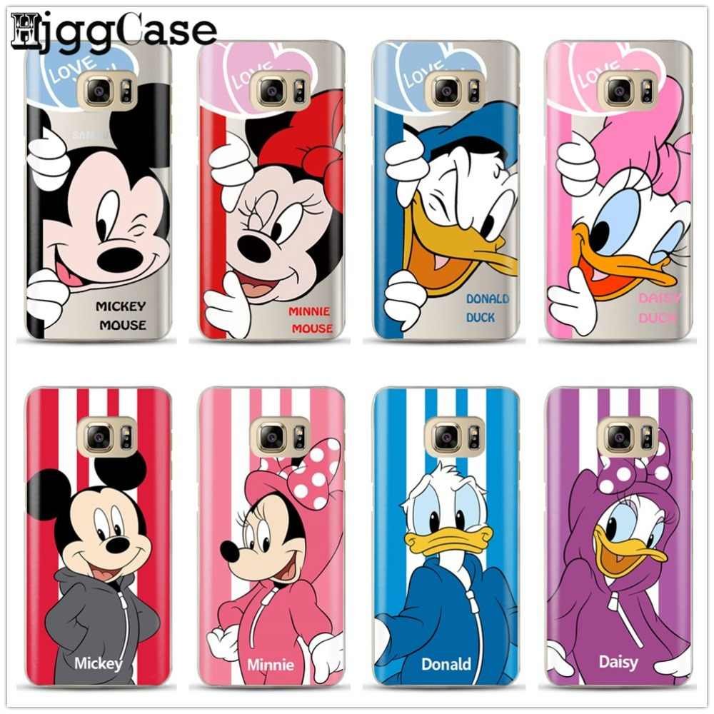 Mickey Minnie Mouse Phone Case For Coque Samsung Galaxy S6 S7 Edge S8 S9 plus J3 J4 J5 J6 J7 A3 A5 A6 A7 2016 2017 A8 plus 2018