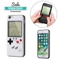 Brinquedo da novidade Para o iphone 6 6 s 7 8 Plus 6 6 s/7/8 Plus/iPhone X Retro Tetris Jogo Gameboy Aliviar O Stress Engraçado Caso de Telefone presente