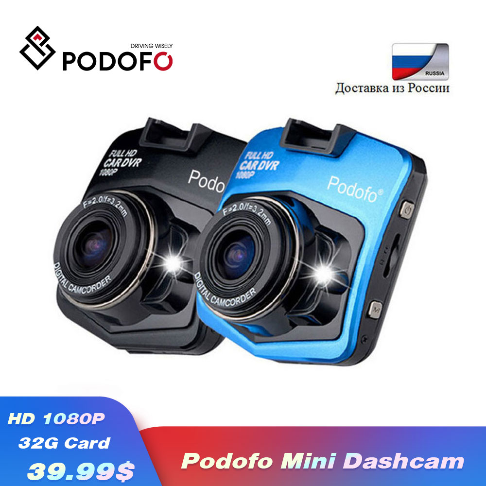 2019 Podofo A1 Mini Car DVR Camera Dashcam Full HD 1080P Night Vision