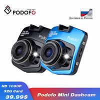 2019 nuevo Original Podofo A1 Mini coche DVR Cámara Dashcam Full HD 1080P Video registrador g-sensor visión nocturna Dash Cam