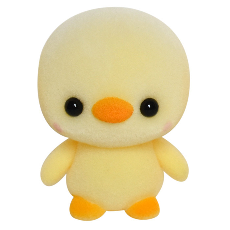 4CM mini exquisite popular yellow duck plush dolls new arrival novelty funny cute PVC flocking toys kids best Christmas gifts