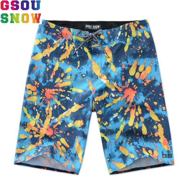 GSOU SNOW Brand Board Shorts Men Swim Shorts Plus Size Loose Bermuda Surf Swim Trunks Quick Dry Summer Surfing Swimming Swimwear
