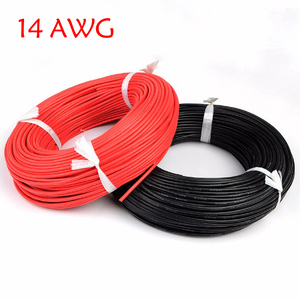 Image 1 - 5 メートル赤 + 5 メートル黒シリコンワイヤー 14AWG 耐熱ソフトシリコンシリカゲル電線の接続ケーブル RC モデルのバッテリー