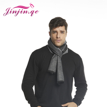 Jinjin.QC Men Scarf Winter Fashion Pashmina Cashmere Scarf Patchwork Shawls and Wraps Black Scarves Navy Bule and Gray wraps classic mic gray