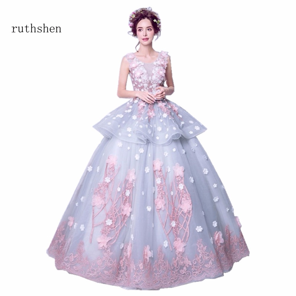 Us 11178 21 Offruthshen Charming Vestidos Quinceanera Dresses Ruffle Flowers Organza Sweet 15 Masquerade Ball Gowns With Sleeveless 2018 In