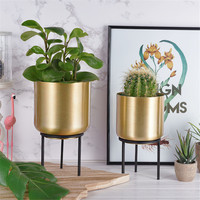Modern Metal Flower pot Planter European American style Succulents Vase Container Gold