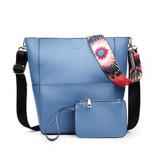 Mode Frauen Tasche Leder Zwei Set Geldbeutel und Handtaschen Berühmte marken Designer Handtasche Eimer Tasche Weibliche Schultertasche sac ein wichtigsten