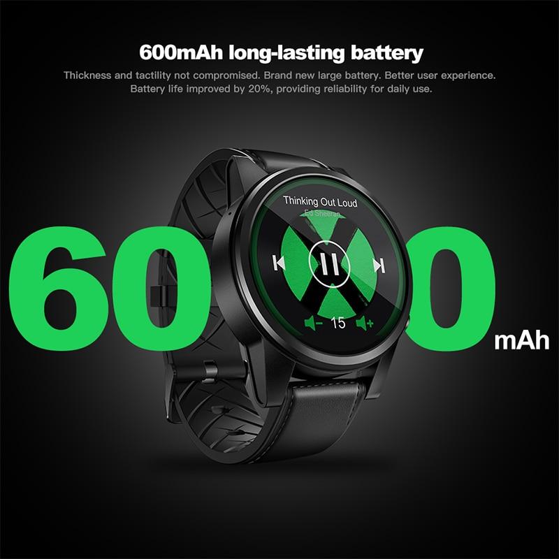 Zeblaze THOR 4 PRO 4g SmartWatch 600 mah 1.6 pouce Cristal Affichage GPS/GLONASS Quad Core 16 gb hybride En Cuir Bracelet Montre Smart Watch Hommes