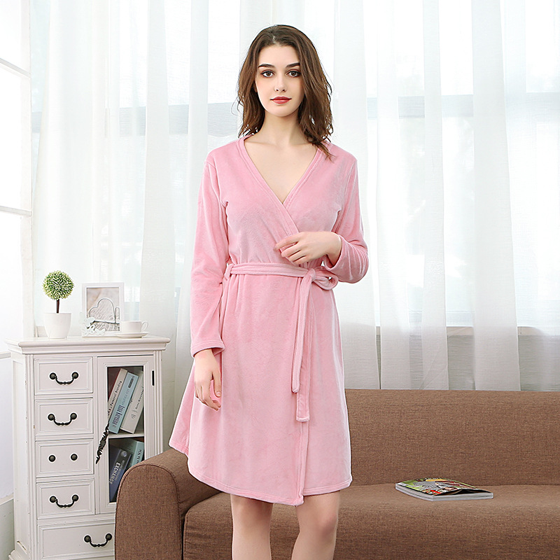 NewBang Brand Womens Bathrobe Long V-Neck Water Absorption Nightgown Thin Soft Hotel Bath Robe Ladies Home Wear With Belt
