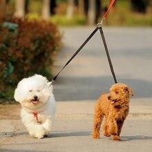 Поводок для домашних животных, двойной ремень, поводок, Тяговый канат, нейлоновый поводок, безопасность для двух собак, кошек
