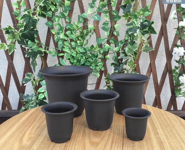 Free shipping,Stout, fleshy flower POTS,black frosted plastic tubs.green plant POTS, vientiane basin.volumes dedicated