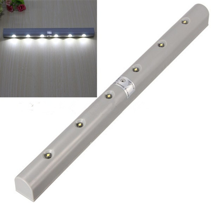 6LED Night Light PIR Motion Sensor LED Light Auto On/Off Battery Power For Bedroom Wardrobe Cabinet Closet Hallway Pathway 8 led light control pir auto body motion sensor night light cabinet closet wall lamp intelligent lighting bedroom kitchen home