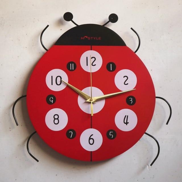 16 75 Ninos Relojes De Pared Lindo De La Historieta Para Ninos Encantadores Numero De Digitos Moda En Relojes De Pared De Hogar Y Jardin En