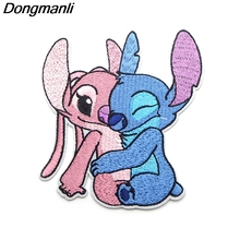 P3735 Dongmanli Alien Stitch Embroidered Anime Sew Iron on Applique Badge for Clothes T-shirt backpack