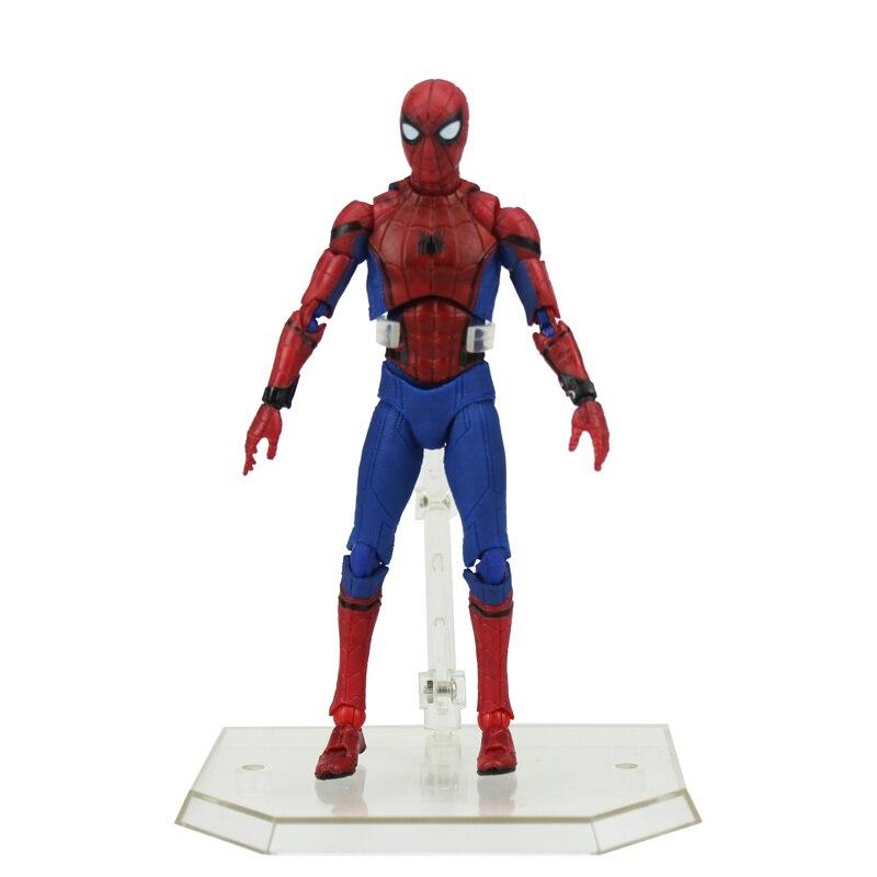 Бесплатная доставка 6 супер-герой с человеком-пауком подвижные выпускников MAF047 предусмотрена 15 см ПВХ фигурку Модель игрушки куклы подарок