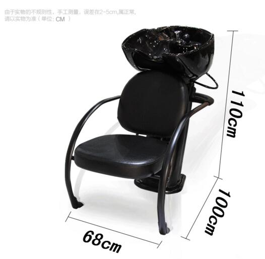 Seated Flush Water Bed Ceramic Wash Basin Water Bed Shampoo Bed
