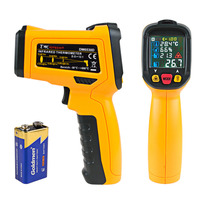 Newest 50 800 C Digital Infrared Thermometer LCD Non contact Aquarium Laser Point Gun Pyrometer IR Temperature Meter 12:1