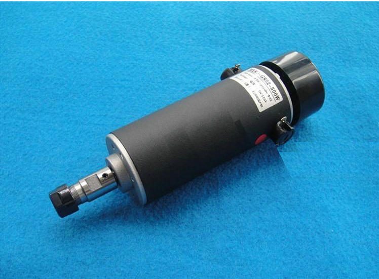 DC110V 500W ER11 high speed brush with air cooling spindle motor with power fixed DIY engraving machine spindle