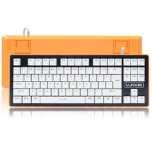 RAJFOO magic light computer keyboard mechanical keyboard Marquee light game metal keyboard green axis Internet bar hero alliance