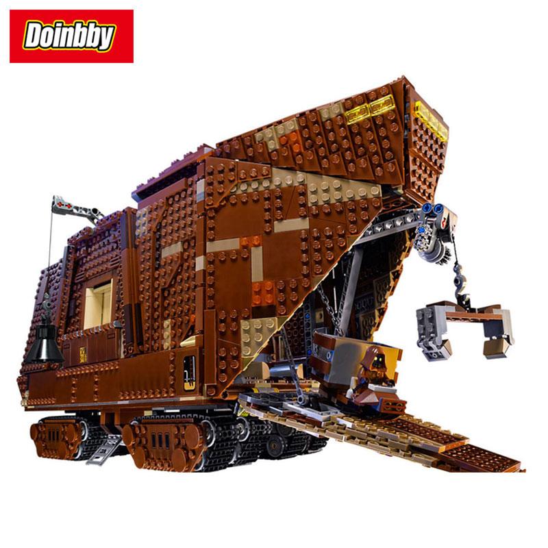 Lepin 05038 3346Pcs Force Awakens Sandcrawler Wars Building Block Bricks Toys Compatible Legoings Star Wars 75059 lepin 05038 star wars episode iv sandcrawler similar with 75059 buliding kit