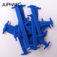 JUP1 50 Sets Blue Fashion Elastic Silicone Laces Fashion Young Kid Boy Laces No Tie All