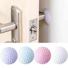ФОТО 2018 diy door doorknob back wall protector savor shockproof crash pad sticker wallpaper wall stickers high qaulity