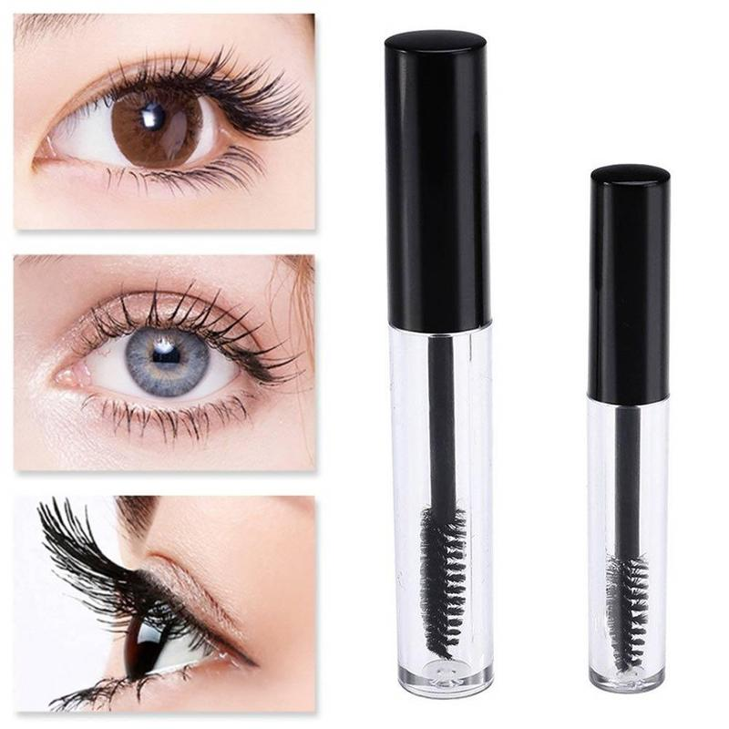 1Pcs Black Cap Plastic DIY Empty Mascara Tubes With Eyelash Wand Brush Eyelash Cream Container Bottle Vials 1.5ml/3.5ml MMG0688