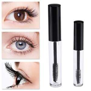 1 Pcs 1.5 ml/3.5 ml Plastic DIY Empty Mascara Tubes Black Cap with Eyelash Wand