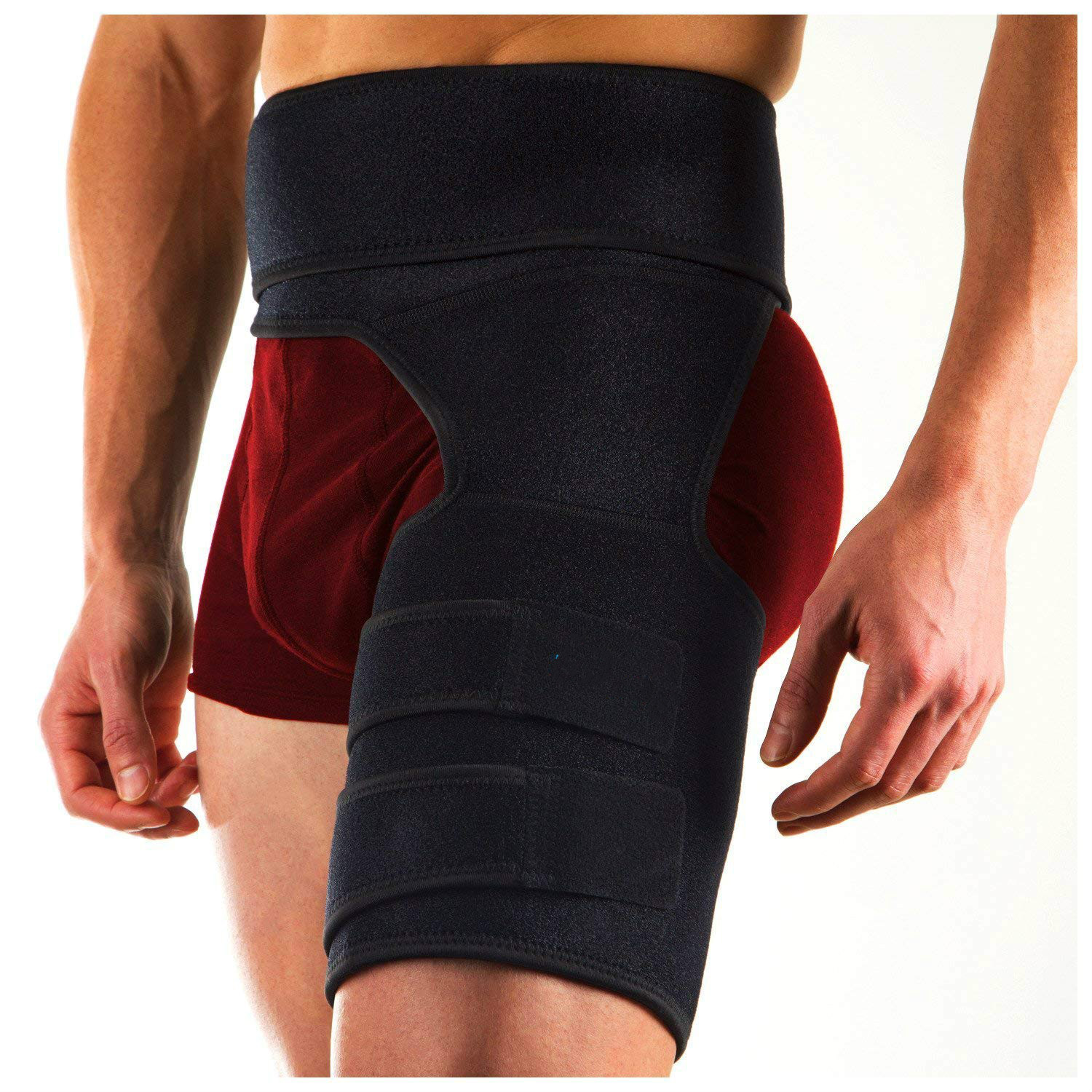 Hip Brace Adjustable Groin Support Compression Recovery Thigh Wrap Waist Support