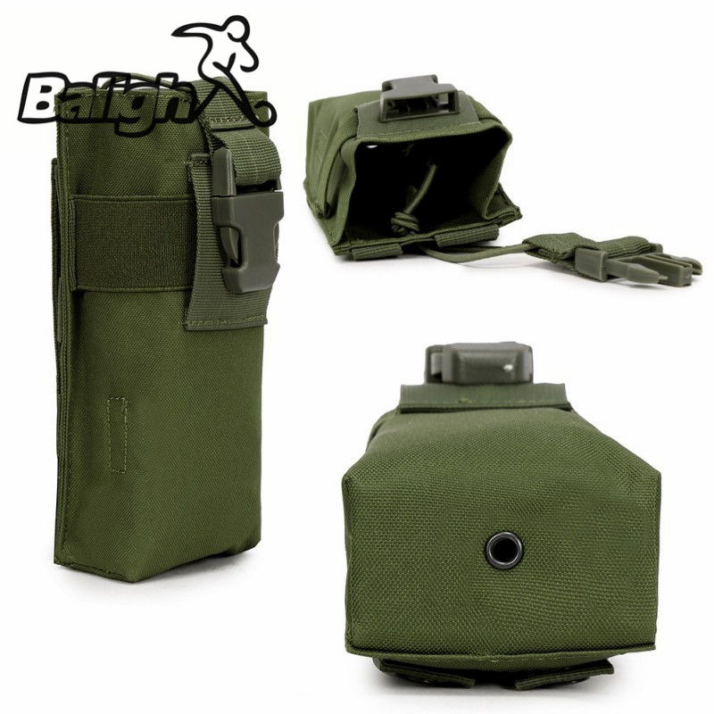 Balight Outdoor Militärische Taktische Airsoft Paintball Jagd Molle Funk Walkie Talkie Beutel Sport Wasserflasche Canteen Bag
