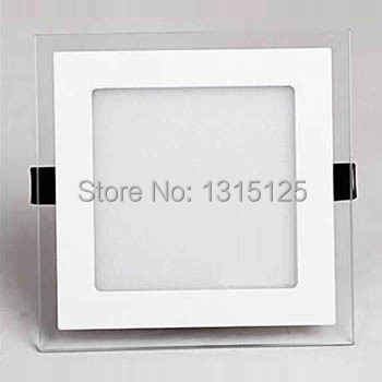 Free Shipping SMD5730 18W Square Aluminum With Glass LED Panel Light 2 Years Warranty Recesssed LED Downlight