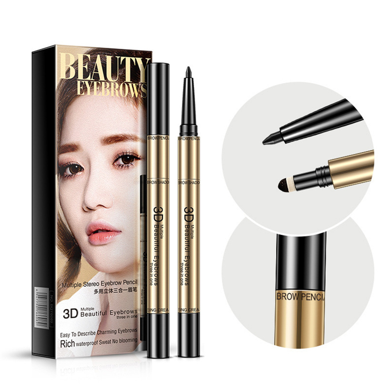 BIOAOUA 3 colors Natural Rotating Women Long Lasting makeup Eyebrow Pencil Waterproof Eye Brow Pen Beauty Easy to wear Makeup