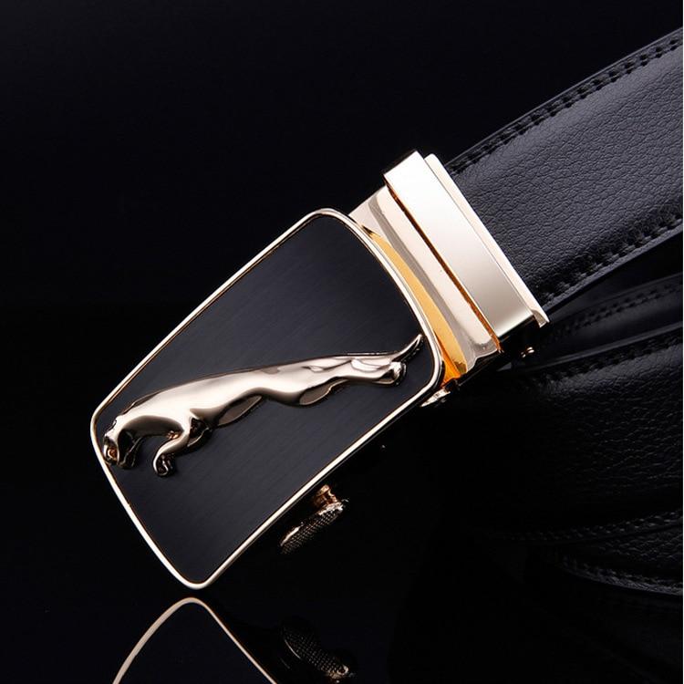 new arrival gold jaguar automatic buckle men   belts   luxury quality designer strap cowboy size 130 cm waist   belt   jeans