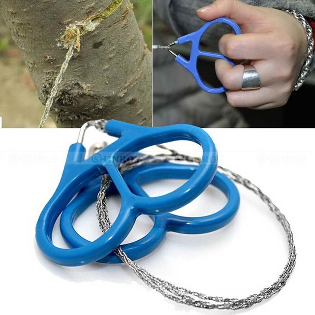 Stainless Steel Ring Wire Hiking Camping Hunting Adventure Scroll ...