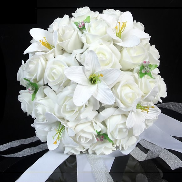 Wedding Flower Bouquets Prices: Compare Prices On Peach Wedding Bouquet- Online Shopping