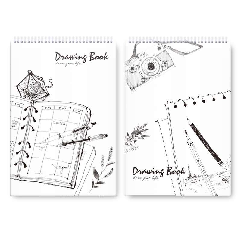 Deli 8K artist sketchbook for Training drawing school spiral notebooks professional anime coil sketch books high quality 73365 yoofun van gogh painting series sketchbook a4 blank sketch books drawing sketch coil spiral 1pcs