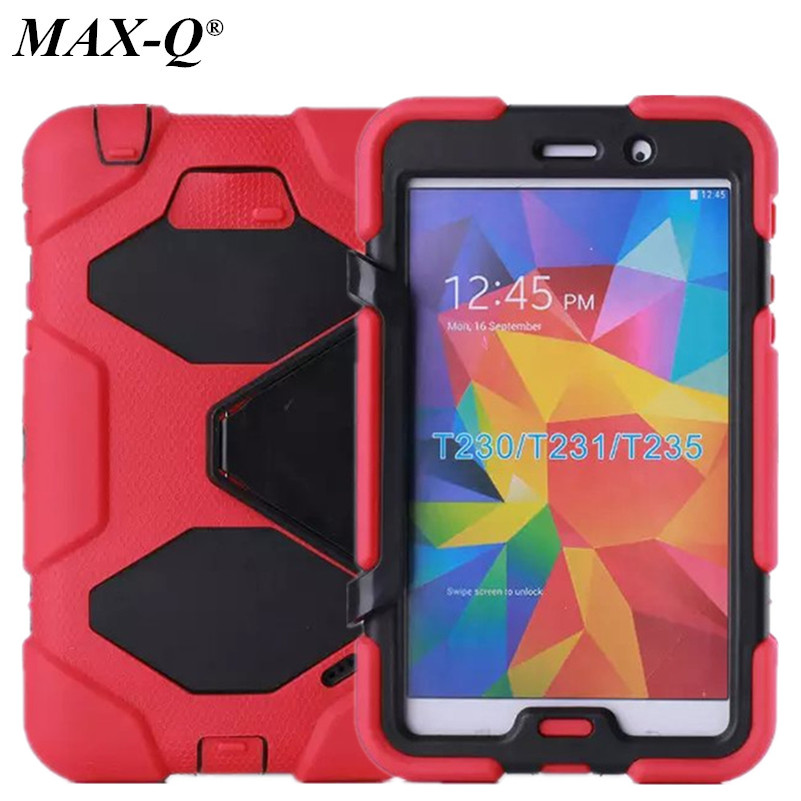 Rugged Hybrid Heavy Duty Cover Case For Samsung Galaxy Tab 4 7.0 T230 T231 Case With Kickstand Shockproof PC&Silicone