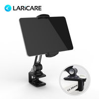 LARICARE aluminum tablet stand adjustable with black and white color and clamp for ipad phone,ergonomic tablet holder LD 204B