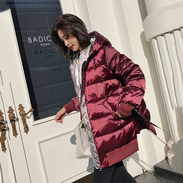 44a03a00f US $110.14 49% OFF|2018 High quality white duck down coats winter down  parkas female thicken warm down jacket coat womens hooded hooded down  coats-in ...