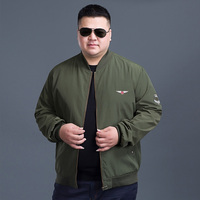 Plus 10xl 8xl 6xl 5xl Army Green Tactical Military Varsity Flight Windbreaker Pilot US Air Force