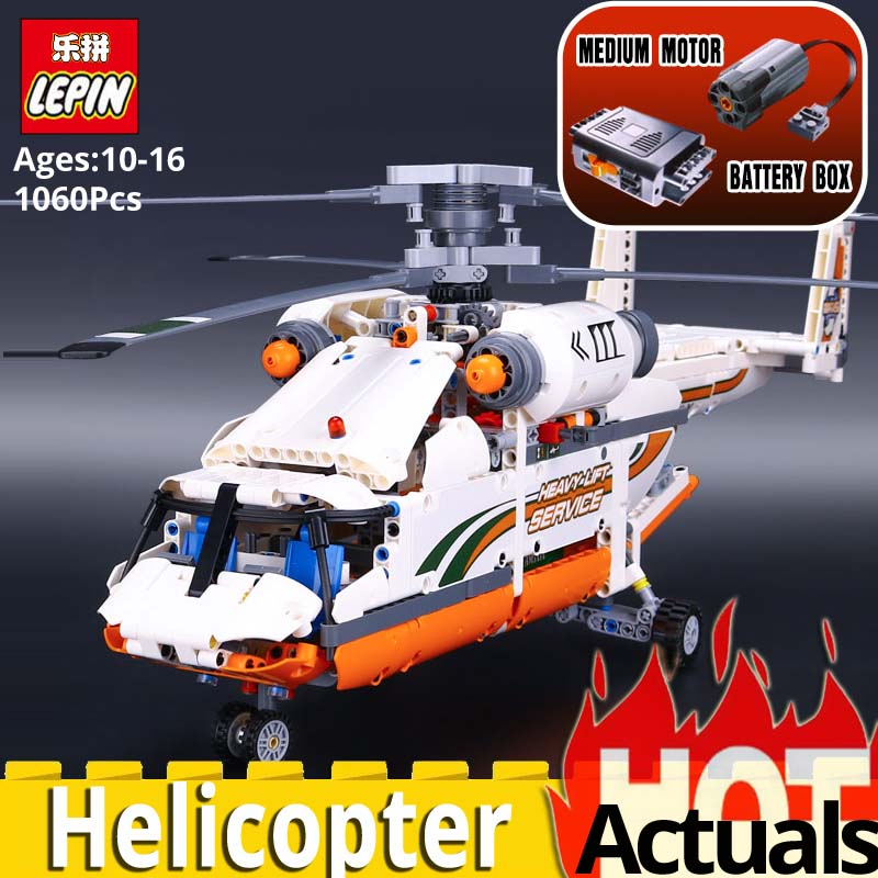 Lepin Technic series 20002 mechanical group high load helicopter boys toys Compatible legoing DIY 42052 Plane model building kit new lepin 20002 technology series mechanical group high load helicopter blocks compatible with 42052 boy assembling toys