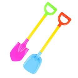 2 шт. Sandbeach песок пляж игрушечная Лопата детские цветные Пластиковые модель лопаты для детей Открытый Снег Лопата пляж Дюна инструмент