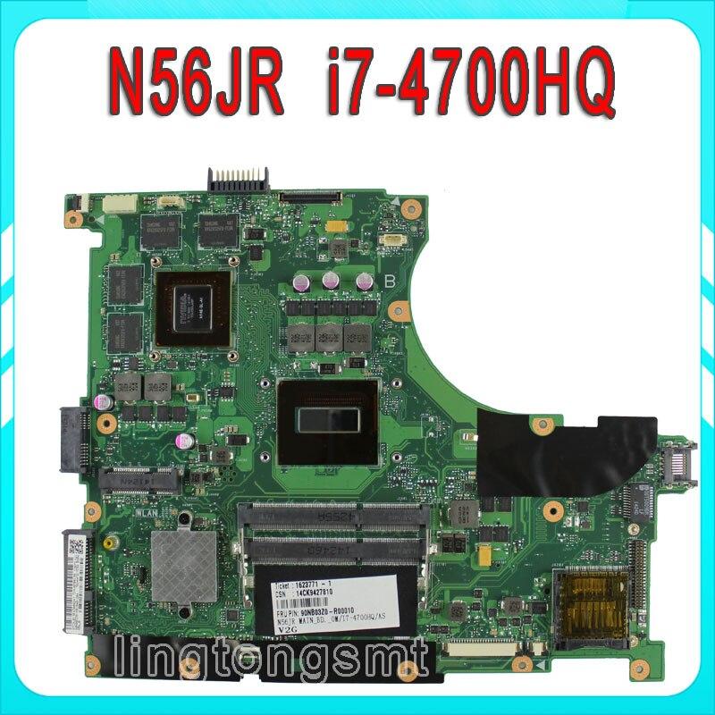 N56JR Motherboard for Asus i7 4700HQ N56JR REV2 0 Mainboard NVIDIA GeForce GTX760M 2G GTX 760M