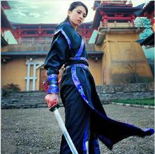 أزياء رقص شعبي Hanfu زي هان سلالة رجل الملابس الصينية القديمة ملابس النساء تانغ Traje Chino