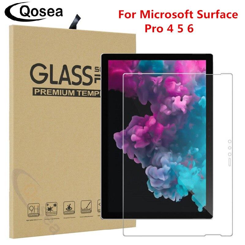 Qosea Pour Microsoft Surface Pro 6 Écran Protecteur Ultra-mince Clair Film Pour Microsoft Surface Pro 5 6 Tablet PC Trempé Verre