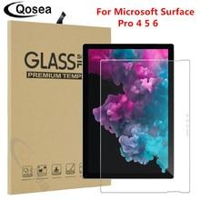 Qosea สำหรับ Microsoft Surface Pro 6 ป้องกันหน้าจอ Ultra   thin Clear สำหรับ Microsoft Surface Pro 5 6 แท็บเล็ตกระจกนิรภัย