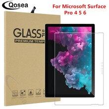 Qosea Para Microsoft Surface Pro 6 Ultra fino Limpar Filme Protetor de Tela Para Microsoft Surface Pro 5 6 Tablet PC de Vidro Temperado