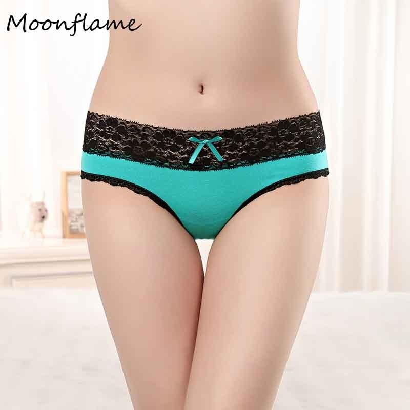 Moonflme 1 pcs/lots New Arrival 2019 Lace Sexy Women Underwear Cotton   Panties   89230
