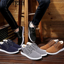 ankle boots men winter shoes snow boots men casual shoes winter boots men luxury brand shoes chaussures homme cuir herrenschuhe(China)